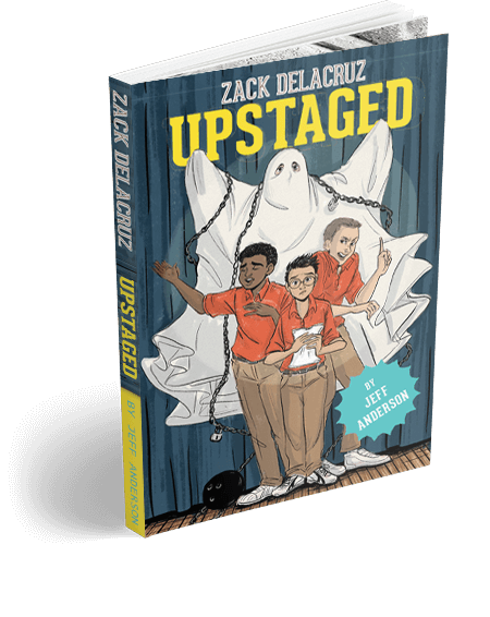 Zack Delacruz Upstaged New Book Cover by Jeff Anderson